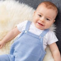 A3006P  Knitted Dungaree